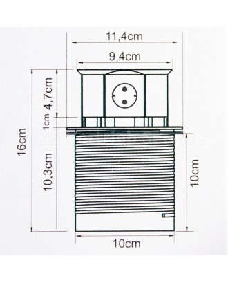 4 pusių ištraukiamas stalinis elektros lizdas